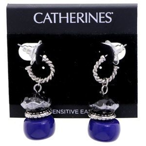 3/$20 Catherines silver and blue drop earrings